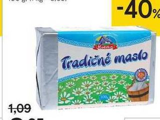 Tradičné čerstvé maslo, 100 g