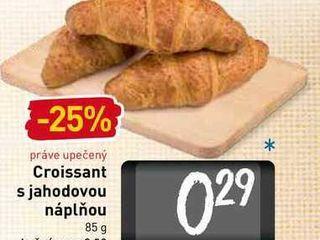 Croissant s jahodovou náplňou 85 g