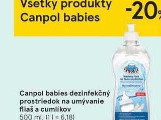 Obrázok Canpol babies dezinfekčný prostriedok na umývanie fliaš a cumlíkov, 500 ml