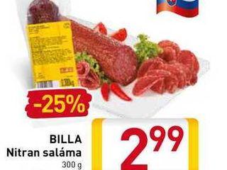 BILLA Nitran saláma 300 g
