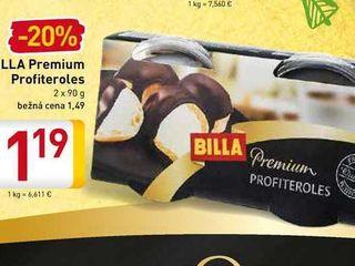 Obrázok  BILLA Premium Profiteroles 2 x 90 g