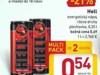 Obrázok   Hell energetický nápoj  0,25 l