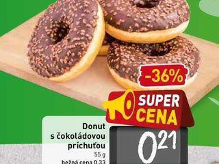 Donut s čokoládovou príchuťou 55 g