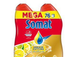 Somat gél anti grease lemon prostriedok do umývačky riadu 2x684 ml