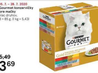 Gourmet konzervičky pre mačky, 8 x 85 g