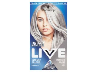 Schwarzkopf Live Urban Metallics U71 metalická strieborná farba na vlasy 1x1 ks
