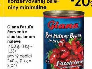 Giana Fazul'a červená v sladkoslanom náleve, 400 g