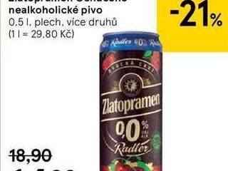 obrázek Zlatopramen Ochucené nealkoholické pivo, 0,5 l