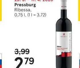 Pressburg Ribessa, 0,75 l