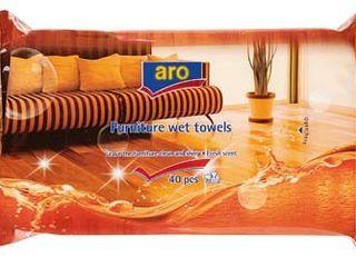 Utierky vlhčené na nábytok ARO 40ks