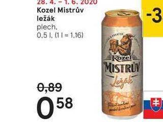Kozel Mistrův ležák, 0,5 l