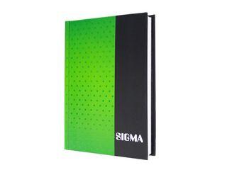 Záznamová kniha linajková A6 80 listov zelená Sigma 1 ks