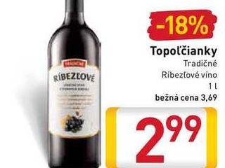 Obrázok Topoľčianky Tradičné Ríbezľové víno  1 l