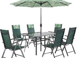 Obrázok Zostava záhradného nábytku Rio 8-dielna palmová zelená