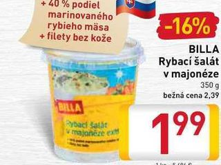 Obrázok  BILLA Rybací šalát v majonéze 350 g